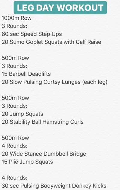 Rowing and Leg Workout
