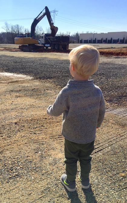 toddler digger truck