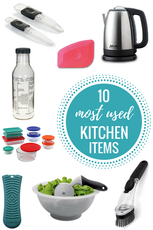 10 most used kitchen items - Kitchen Items