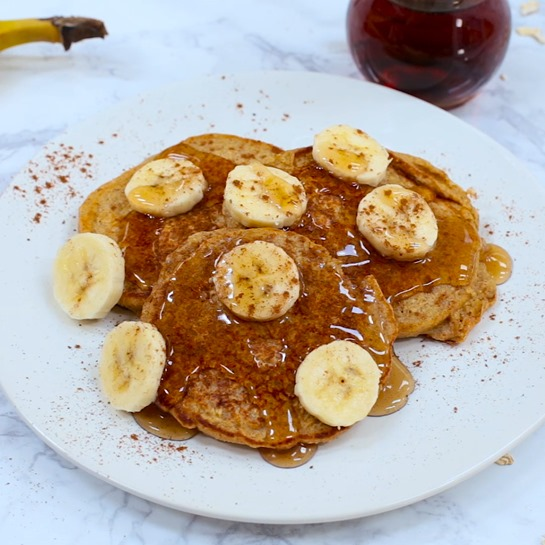 Banana Bread Protein Pancakes (No protein powder required)