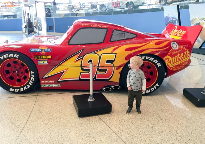 Cars Exhibit at NASCAR Hall of Fame
