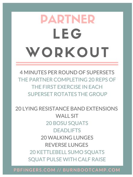 Partner Leg Workout
