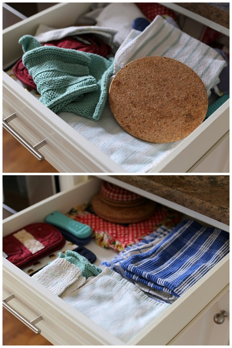 Pot Holder Kitchen Towel Drawer