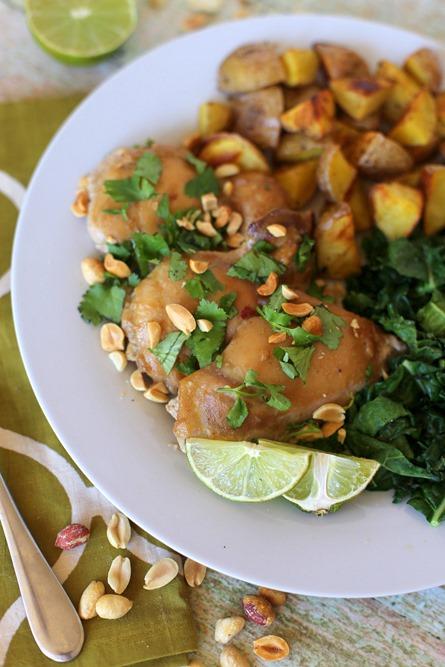 Thai Peanut Chicken Thighs