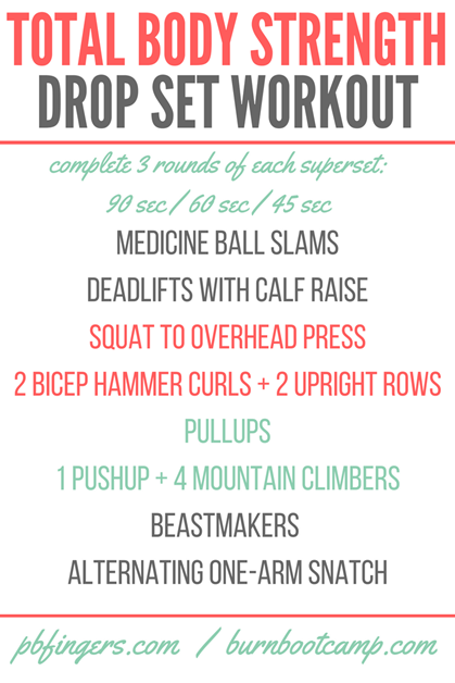 Total Body Strength Drop Set Workout