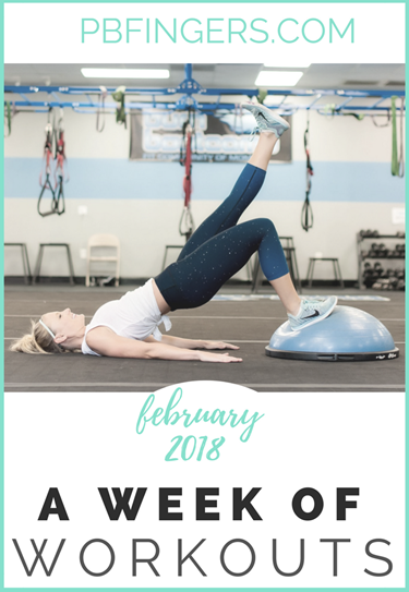Week of Workouts 22 weeks pregnant