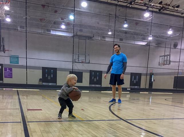 Basketball at YMCA toddler