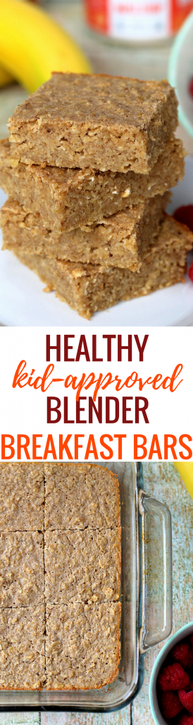 Healthy Blender Breakfast Bars - Kid Approved! (Kid Friendly Recipe)