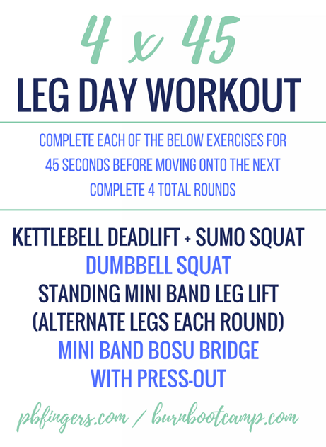 Leg Workout Burn Boot Camp