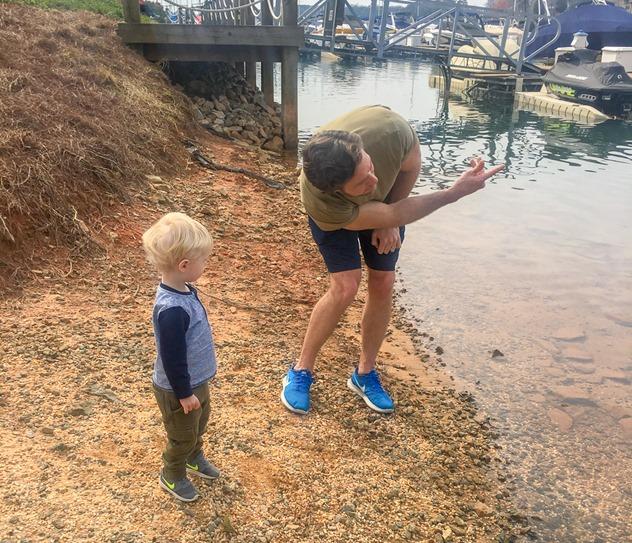skipping rocks lake norman