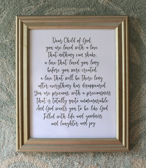 Framed Prayer for Baby