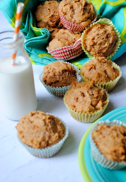 Greek Yogurt Whole Wheat Muffins -- Toddler Approved!