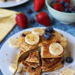 Blueberry Banana Protein Pancakes