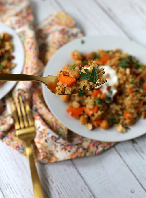 Chickpea and Freekeh Salad