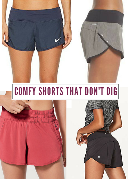 Comfy Workout Shorts That Don't Dig Into Your Sides