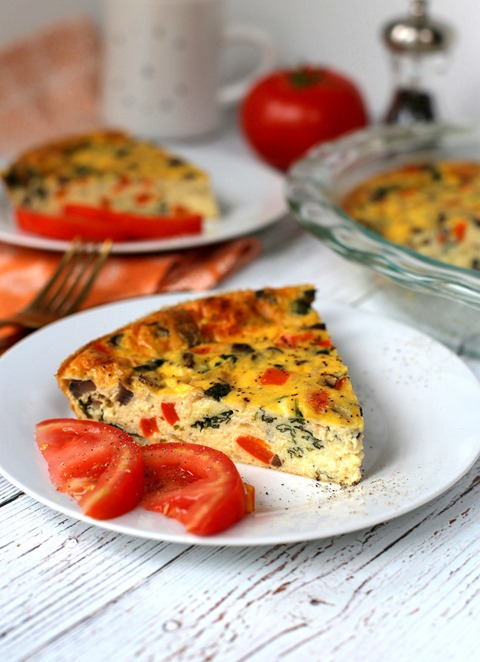 Crustless Vegetable and Cheese Quiche