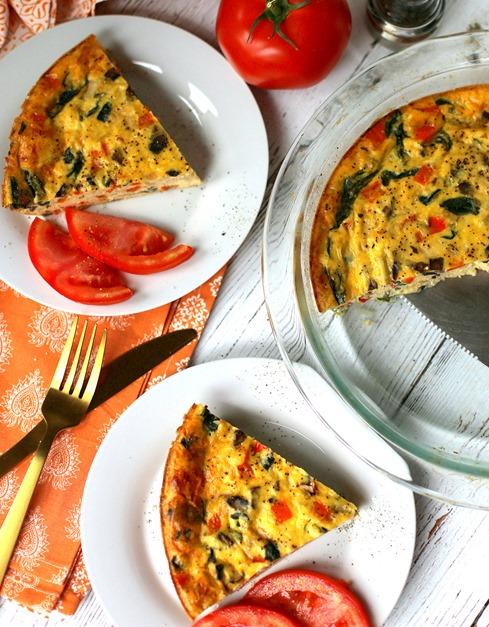Easy Crustless Vegetable Quiche - Crowd Pleasing Recipe