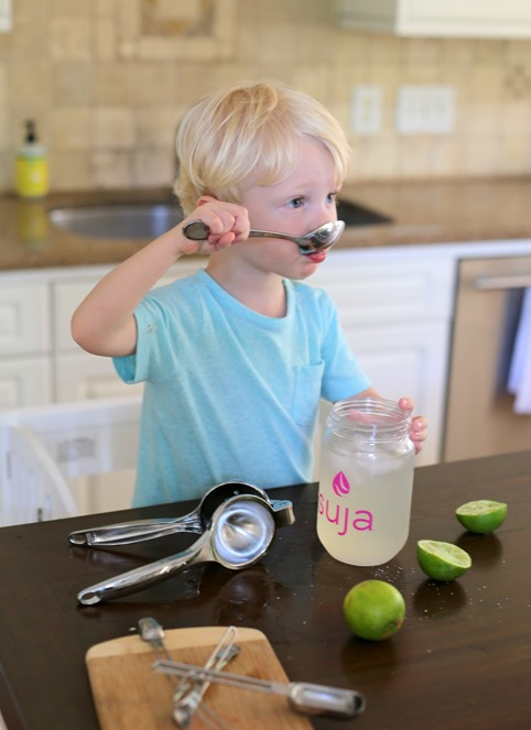 Homemade Limeade with a Toddler