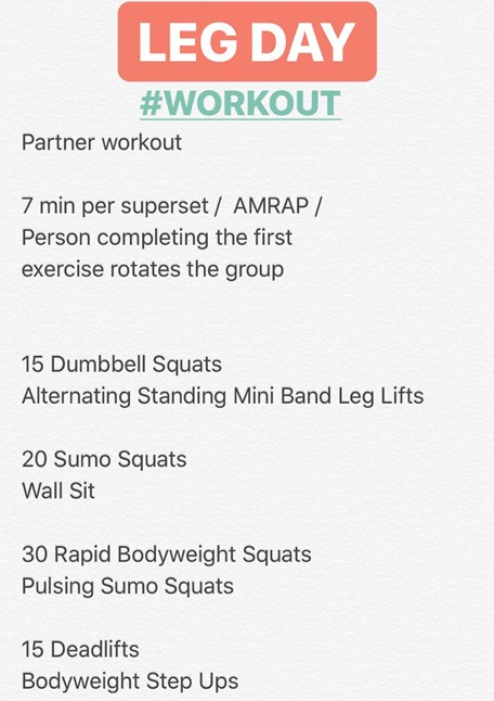 Partner Leg Day Workout