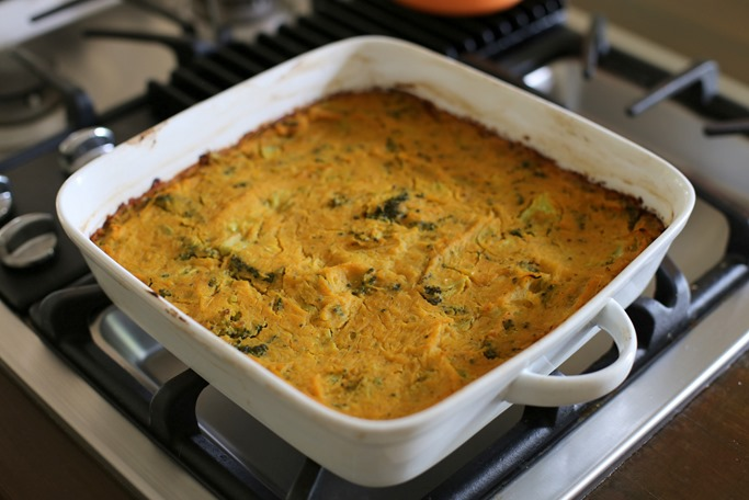 spaghetti squash broccoli cheese casserole