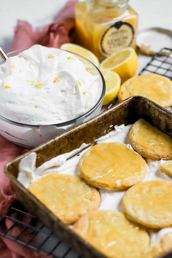 Lemon Sugar Cookie Icebox Cake