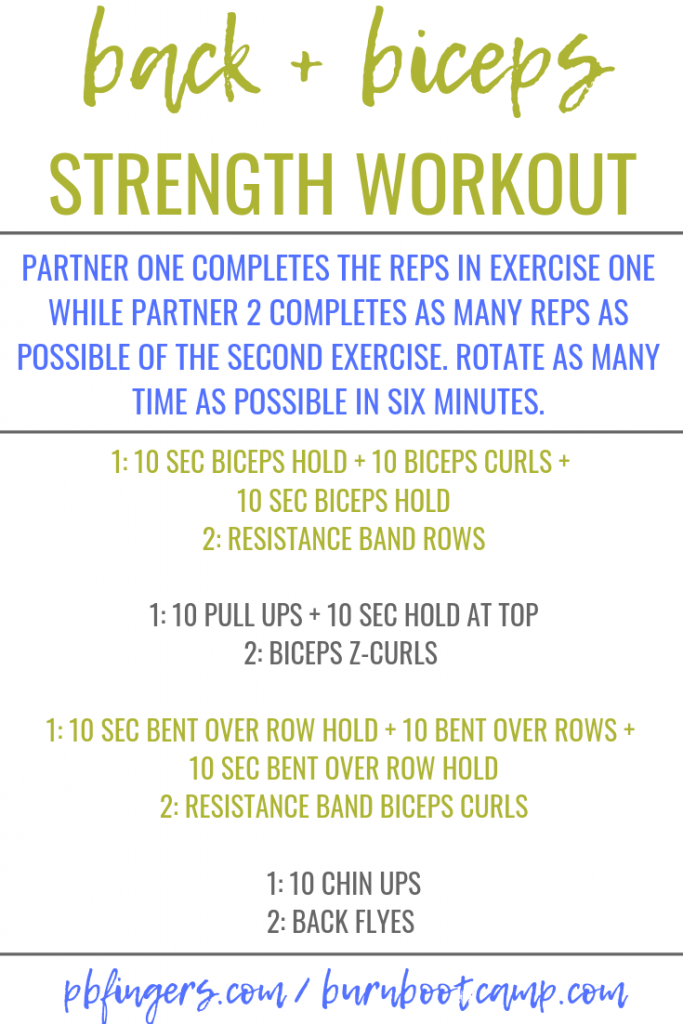BICEPS BACK WORKOUT BURN BOOT CAMP