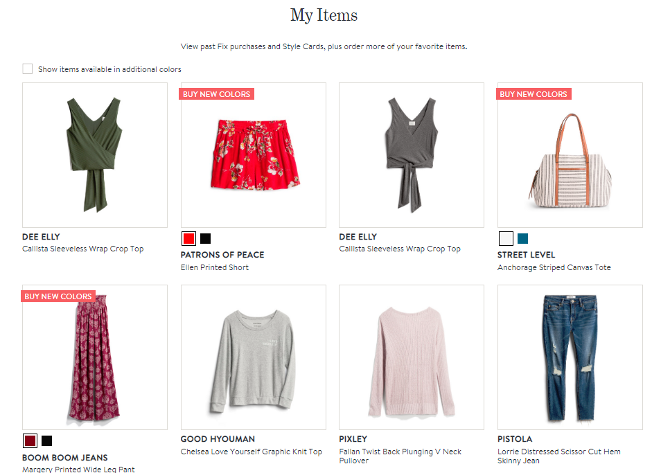 Stitch Fix My Items