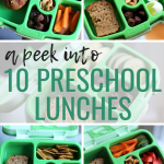 10 Preschool Lunch Ideas