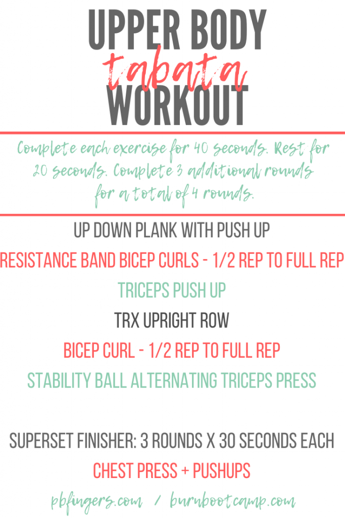 Upper Body Tabata Workout