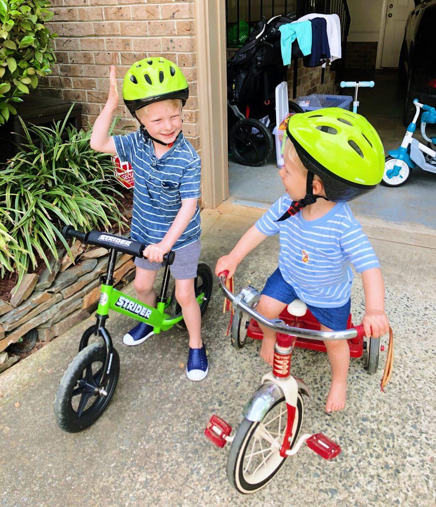 balance bike and tricycle
