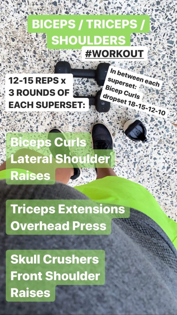 Biceps Triceps Shoulders Workout