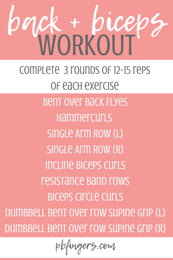 treino de bíceps de volta
