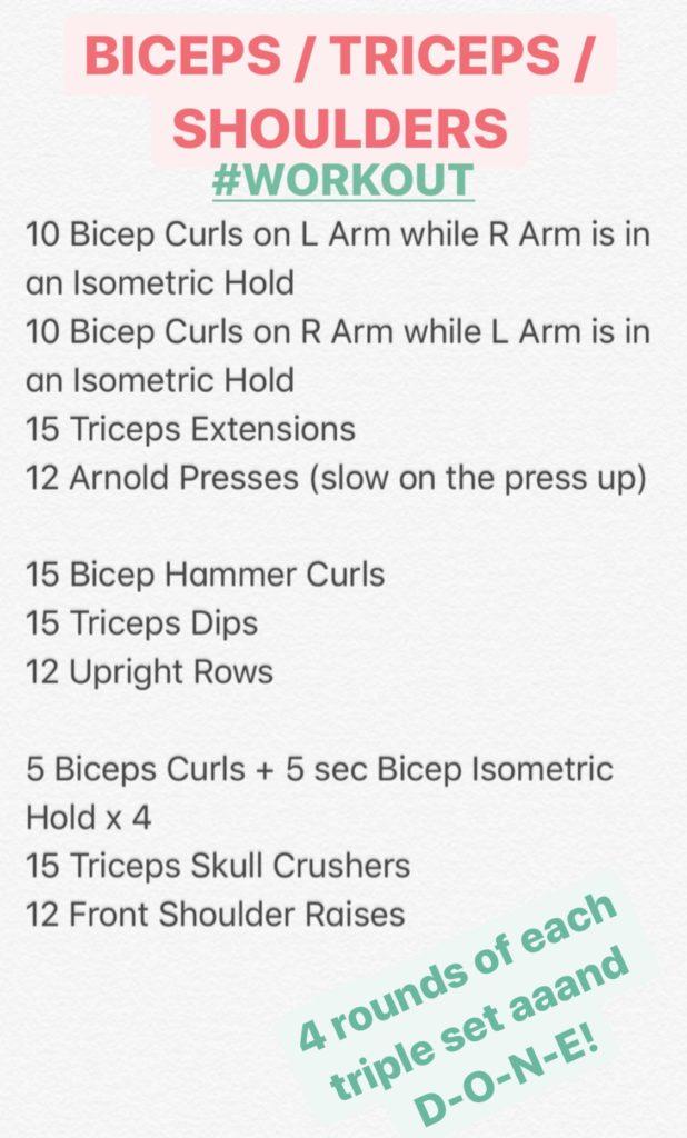 treino triplo bíceps tríceps ombros